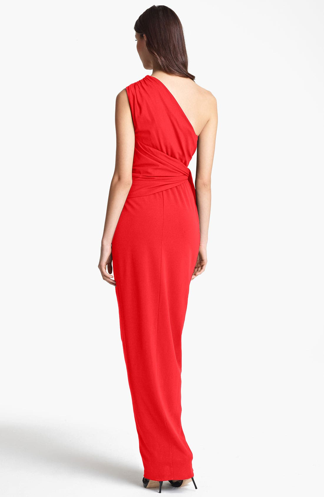 Alternate Image 2  - Max Mara Draped One Shoulder Gown