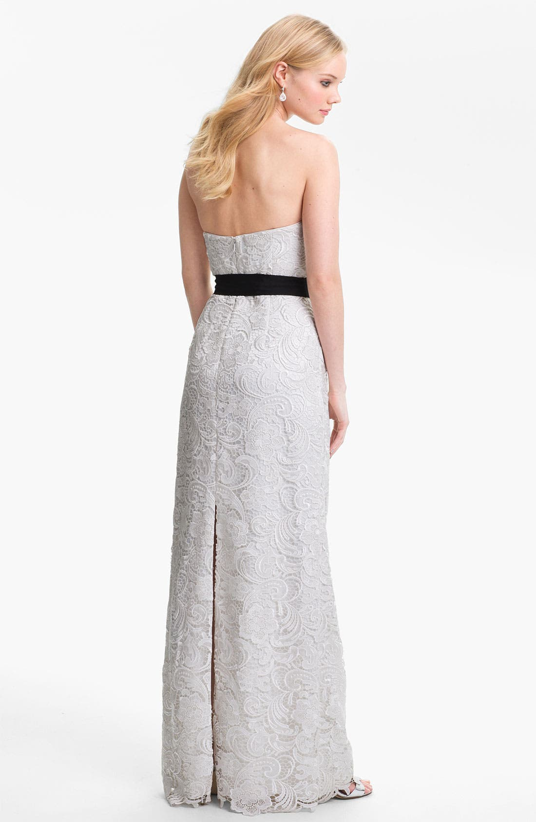 Alternate Image 2  - Adrianna Papell Strapless Lace Gown