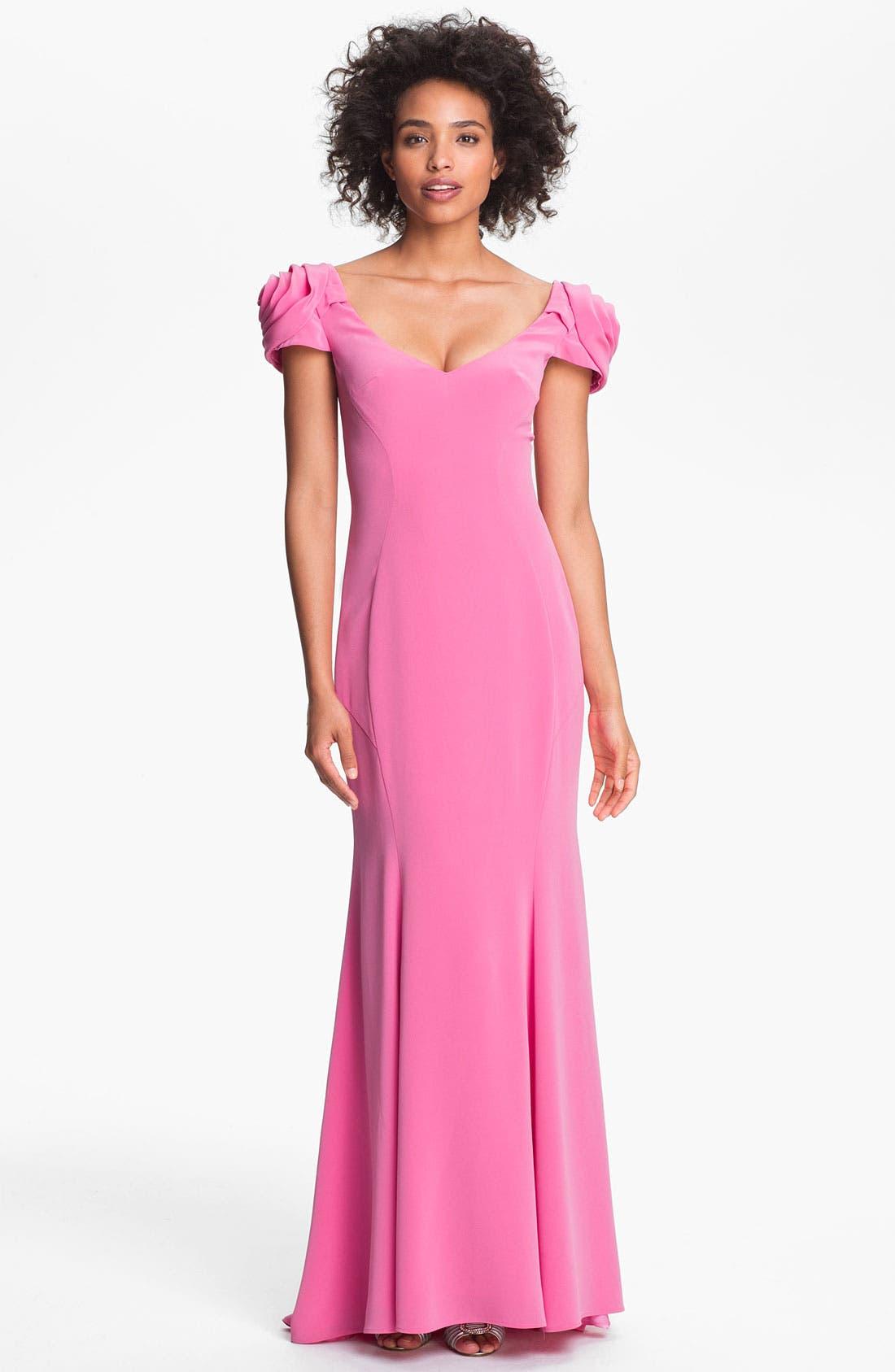 Main Image - A.B.S. by Allen Schwartz Rosette Shoulder Gown