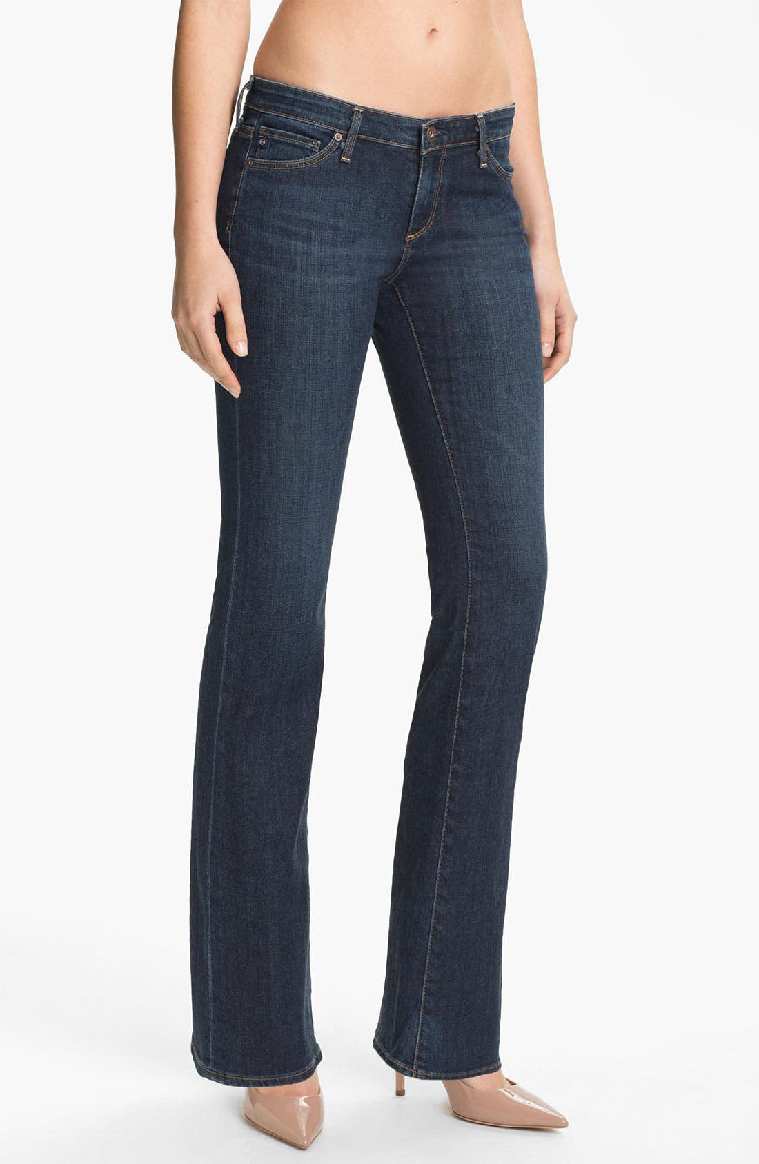 Alternate Image 1 Selected - AG Jeans 'Angelina' Bootcut Jeans (Blue Brush) (Petite)