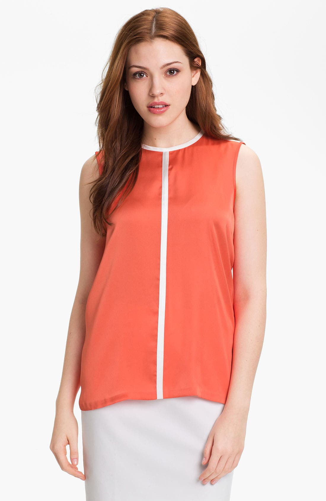 Alternate Image 1 Selected - Vince Camuto Contrast Center Seam Blouse