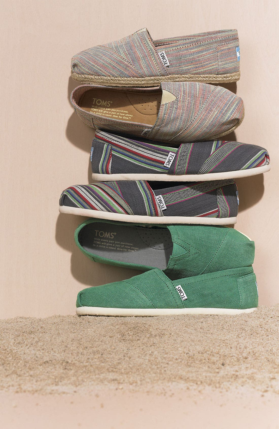 Alternate Image 6  - TOMS 'Classic - Stripe' Slip-On (Women)