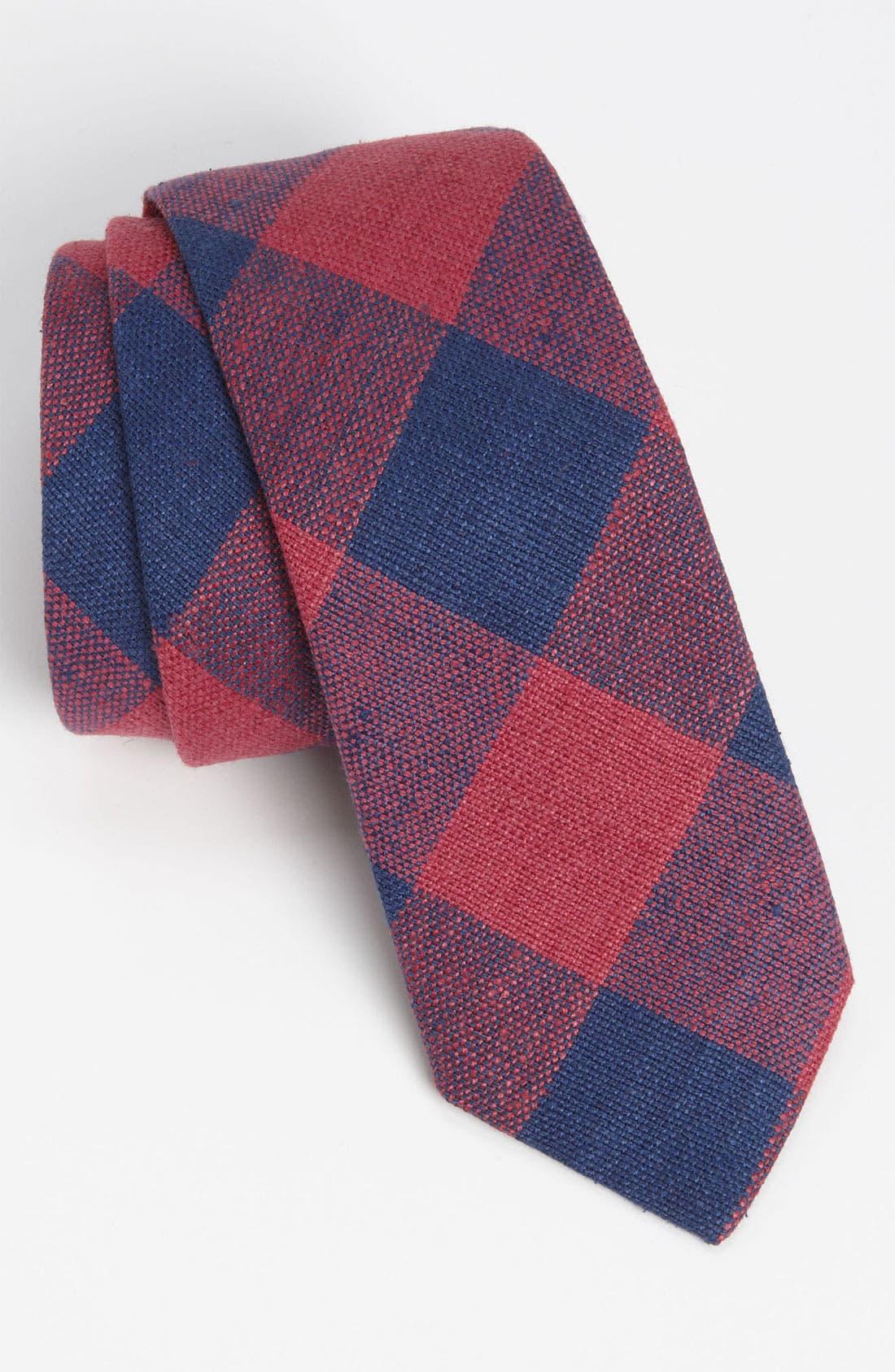 Main Image - Gitman 'Buffalo Check' Woven Silk Tie