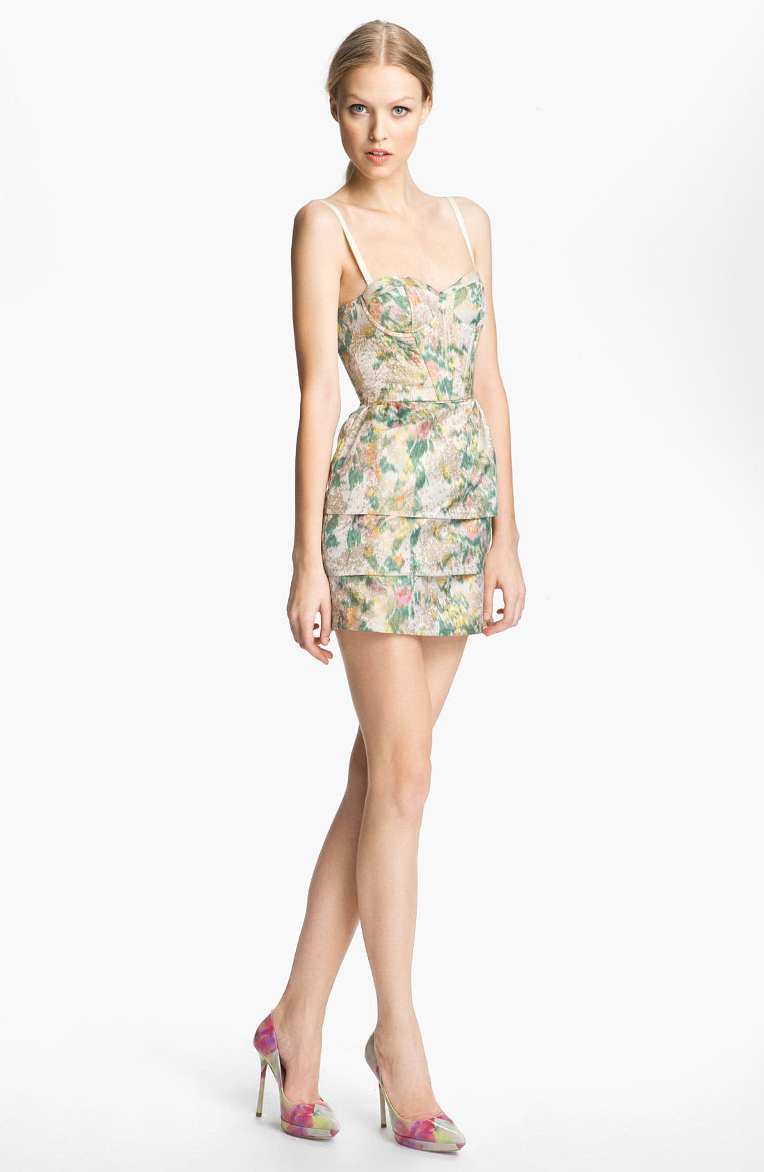 Alternate Image 1 Selected - Alice + Olivia Print Bustier Dress