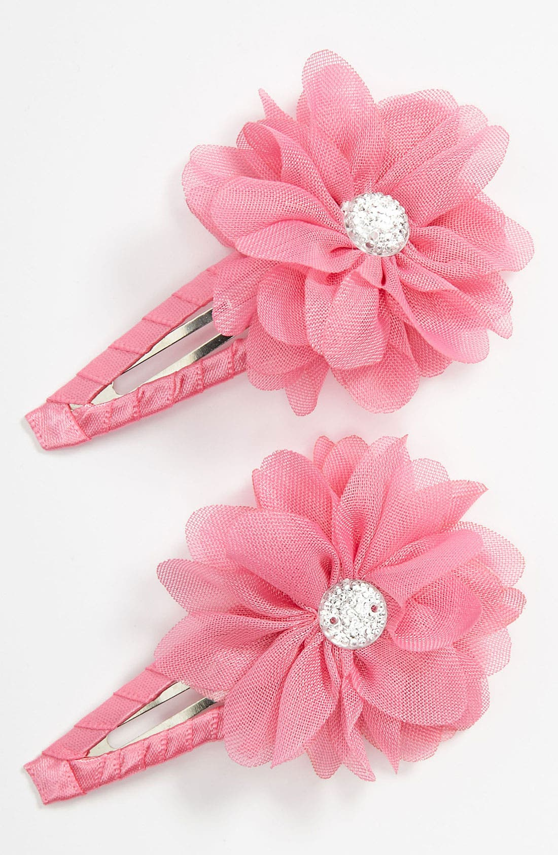 Alternate Image 1 Selected - Capelli of New York Flower Hair Clip (Set of 2) (Girls)