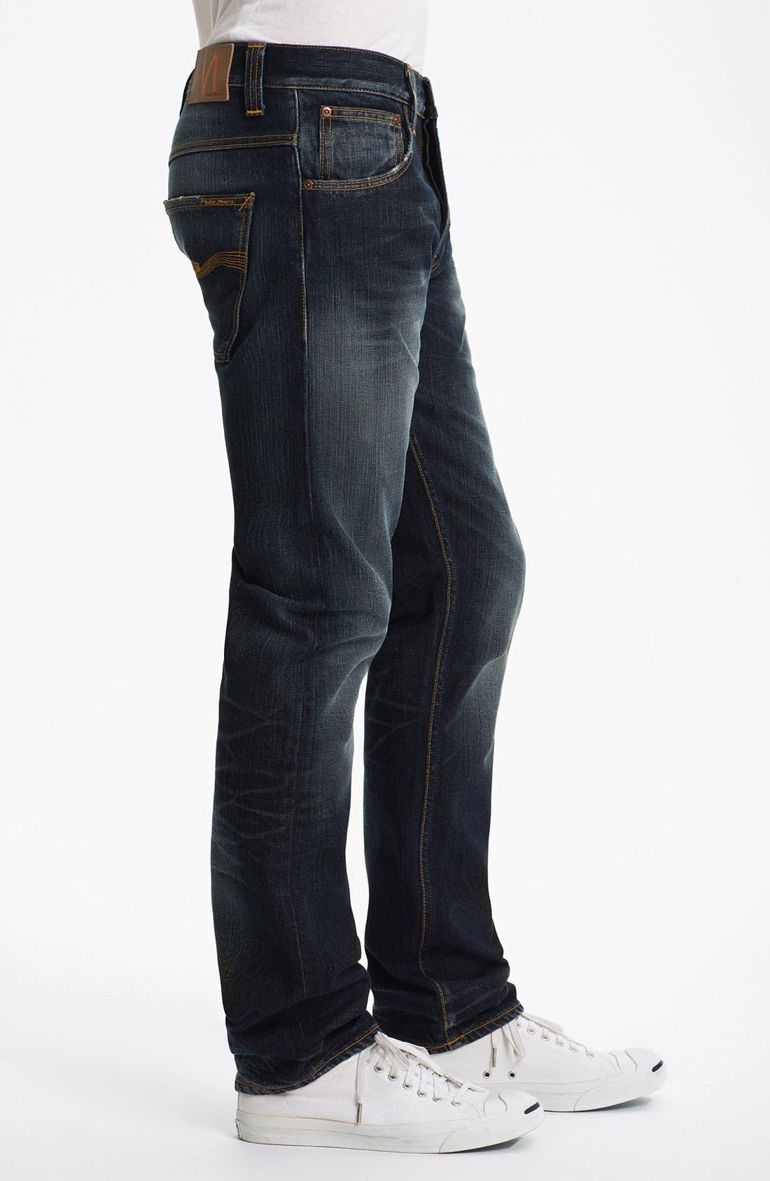 Alternate Image 3  - Nudie 'Hank Rey' Straight Leg Jeans (Organic Indigo Depth)