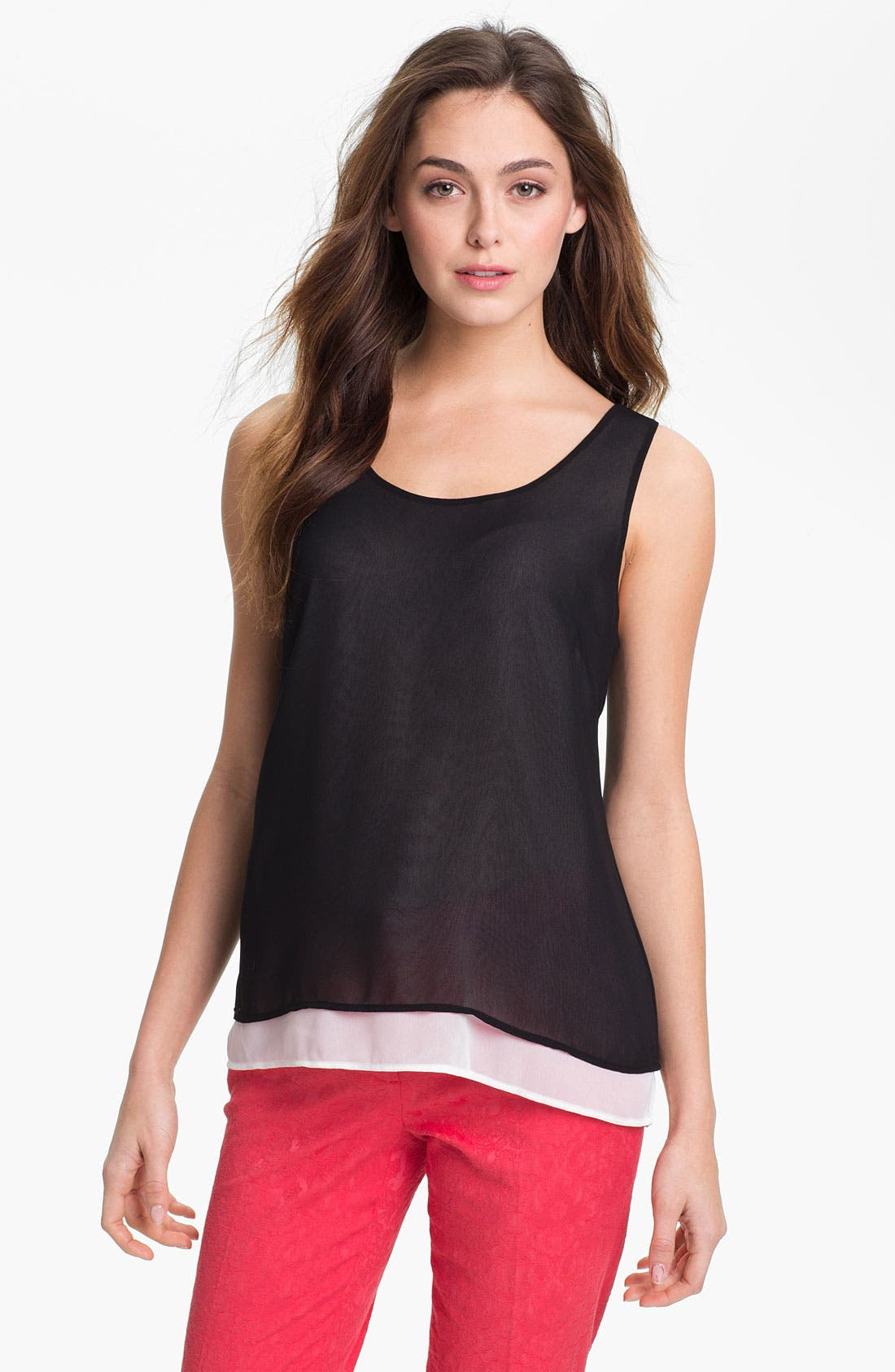 Alternate Image 1 Selected - Halogen® Layered Chiffon Tank