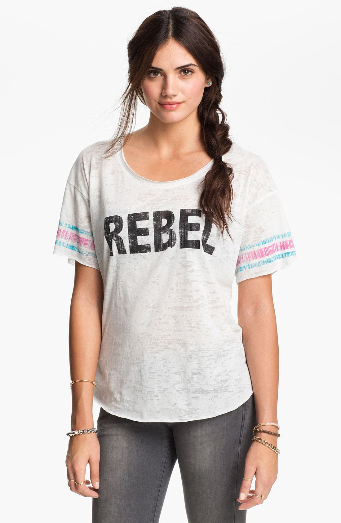 Alternate Image 1 Selected - Project Social T 'Rebel' Athletic Tee (Juniors)