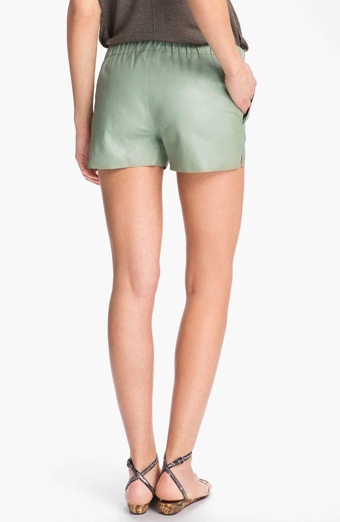 Alternate Image 2  - J Brand Ready-to-Wear 'Lynn' Leather Shorts