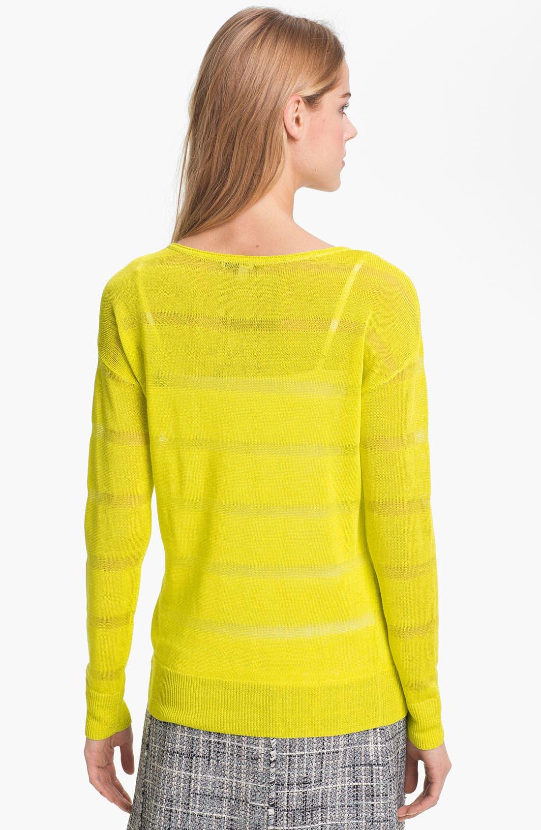 Alternate Image 2  - Halogen® Sheer Stripe Sweater