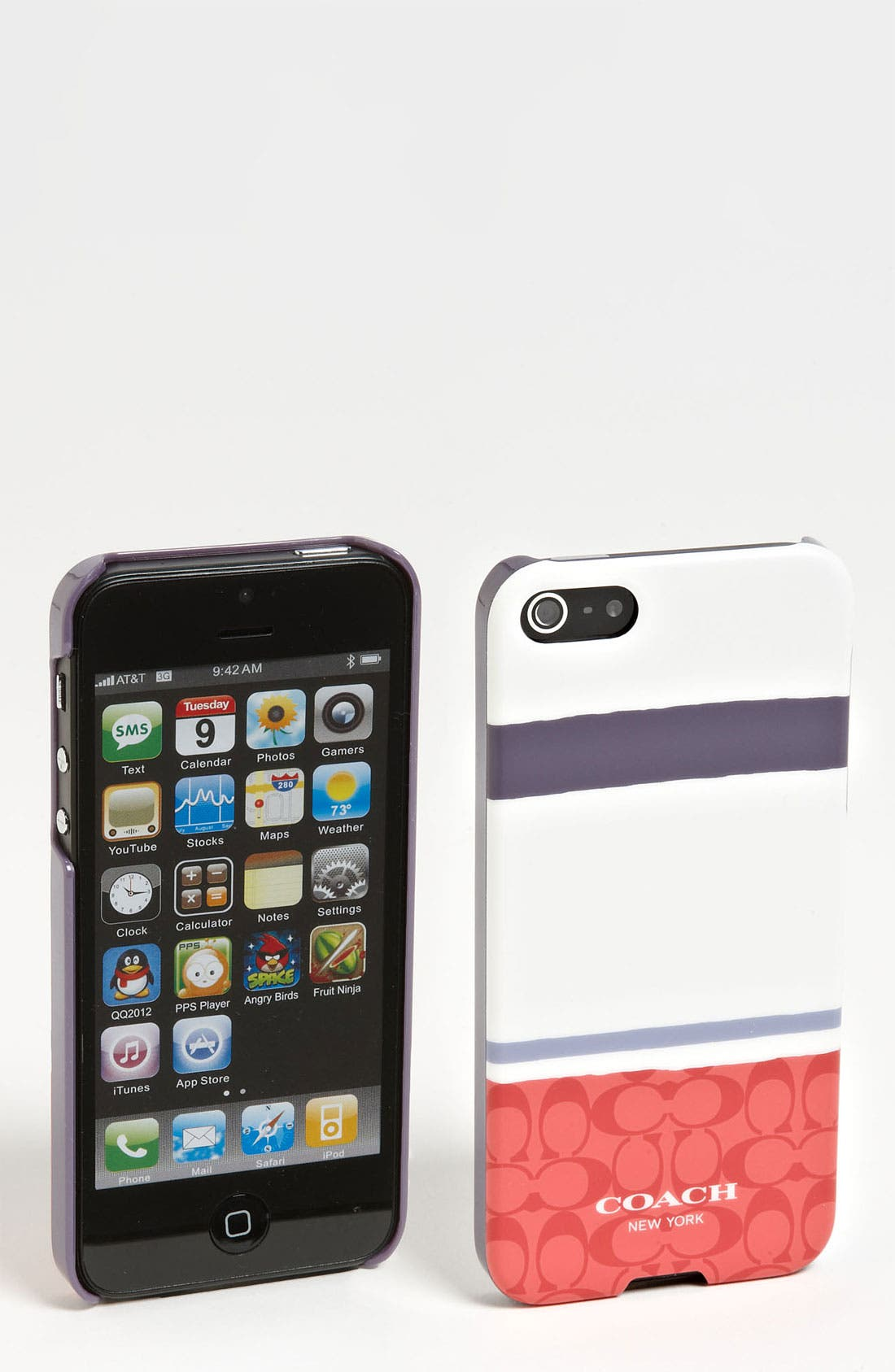 Alternate Image 1 Selected - COACH 'Painted Signature' iPhone 5 Case