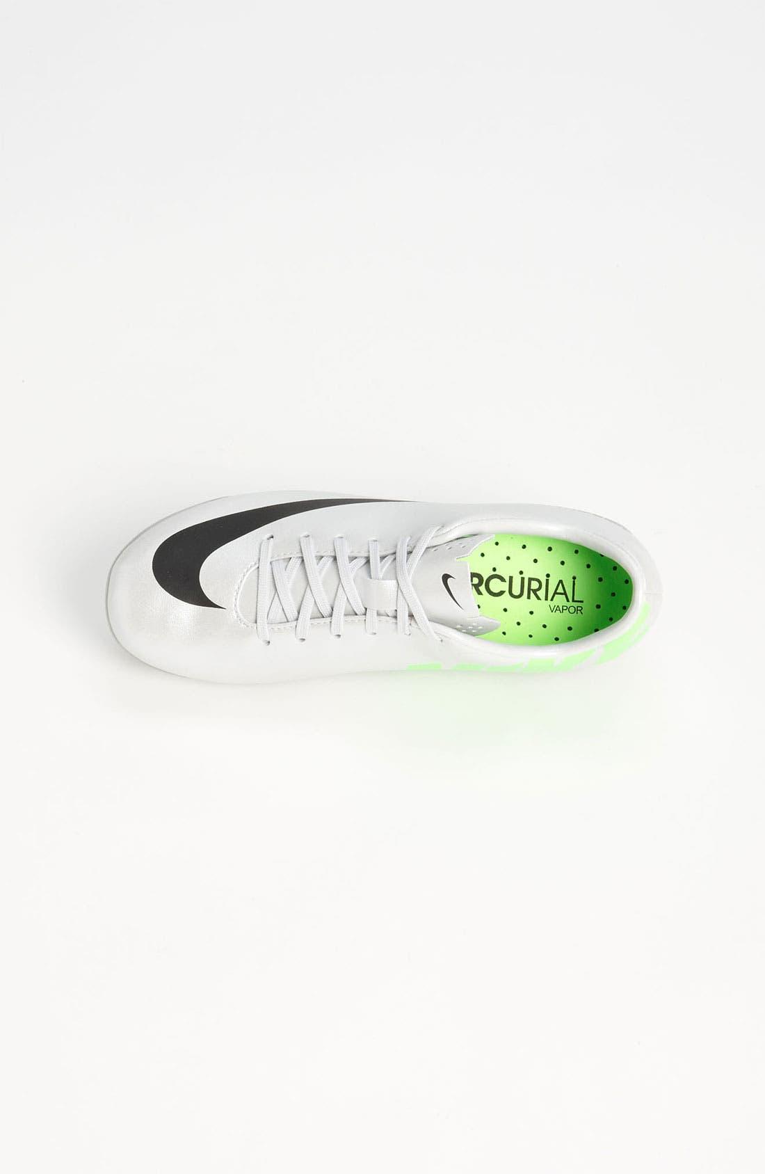 Alternate Image 3  - Nike 'Jr. Mercurial Vapor' Soccer Cleat (Little Kid & Big Kid)