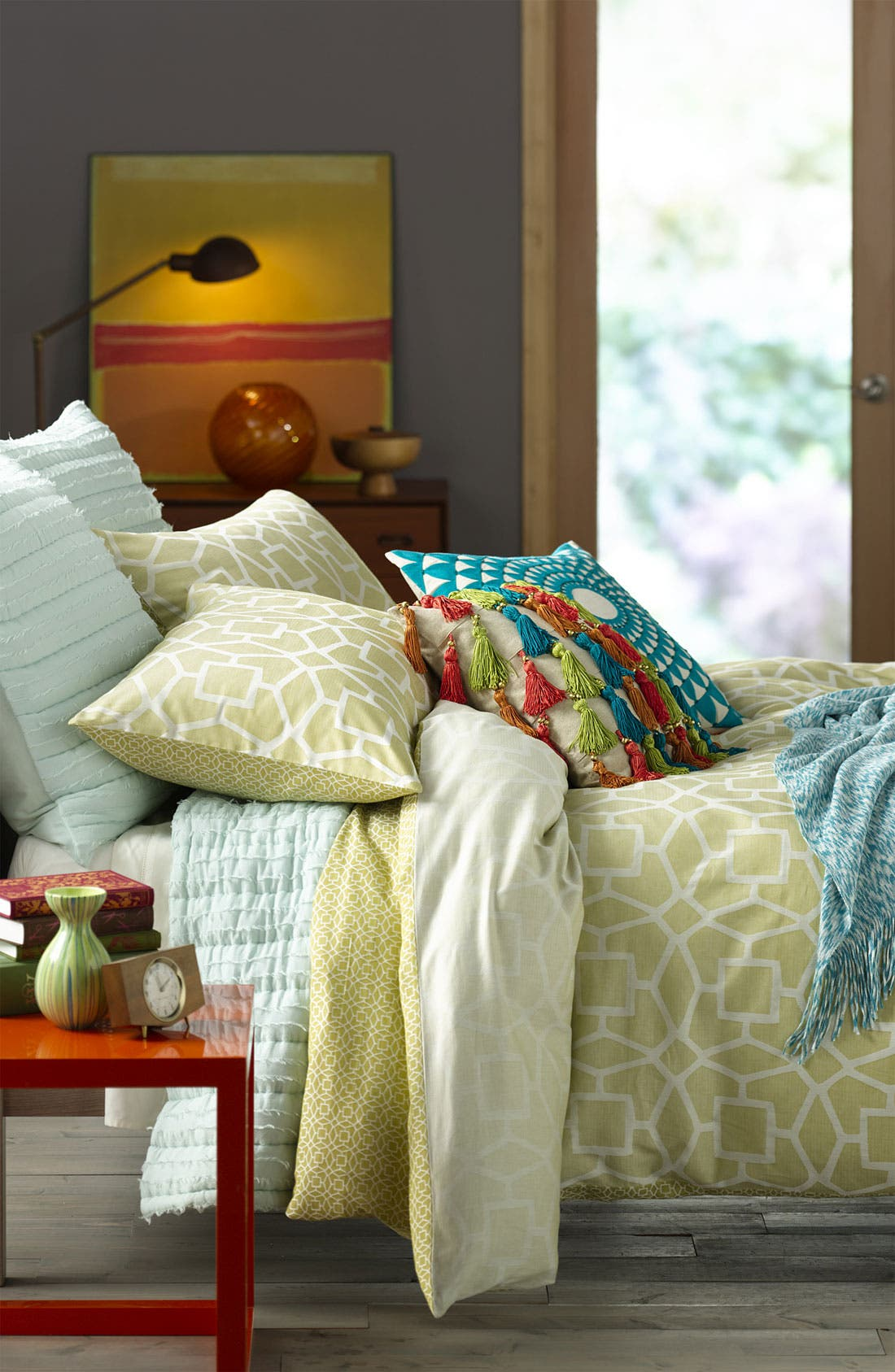 Alternate Image 2  - Nordstrom at Home Space Dye Knit Throw