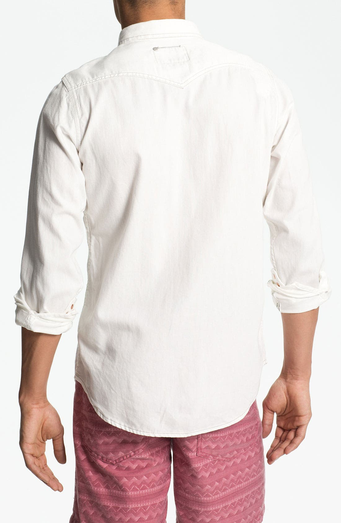 Alternate Image 2  - DIESEL® 'Sonora' White Denim Western Shirt