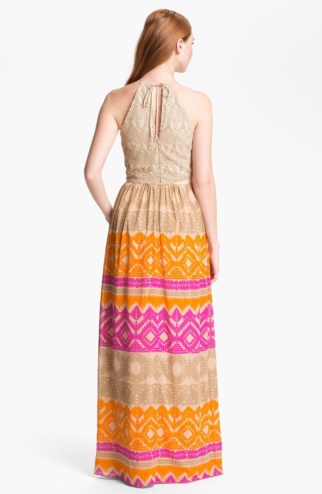 Alternate Image 2  - Trina Turk 'Anargosa' Stretch Silk Maxi Dress