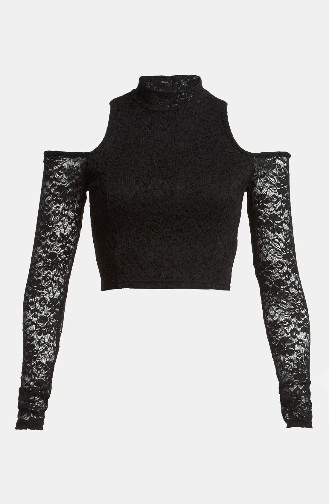 Alternate Image 1 Selected - MINKPINK 'Imogen' Stretch Lace Crop Top