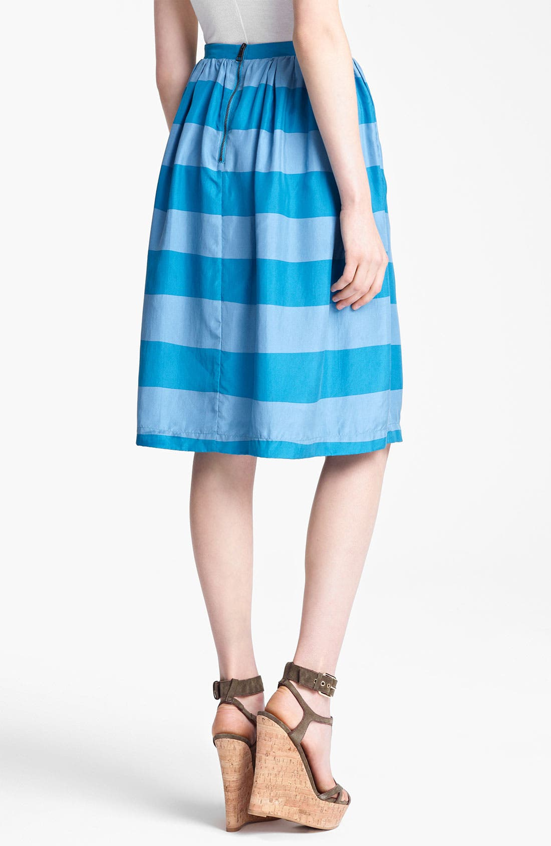 Alternate Image 2  - Burberry Brit Stripe Silk Skirt (Online Only)
