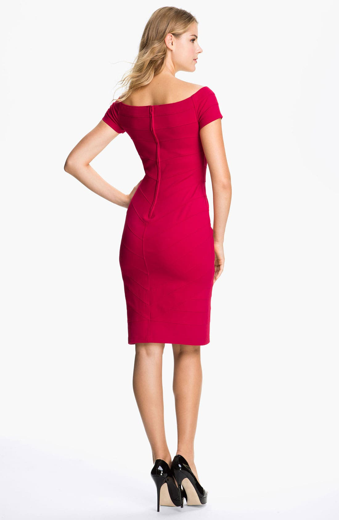 Alternate Image 2  - T by Tadashi Off Shoulder Bandage Dress
