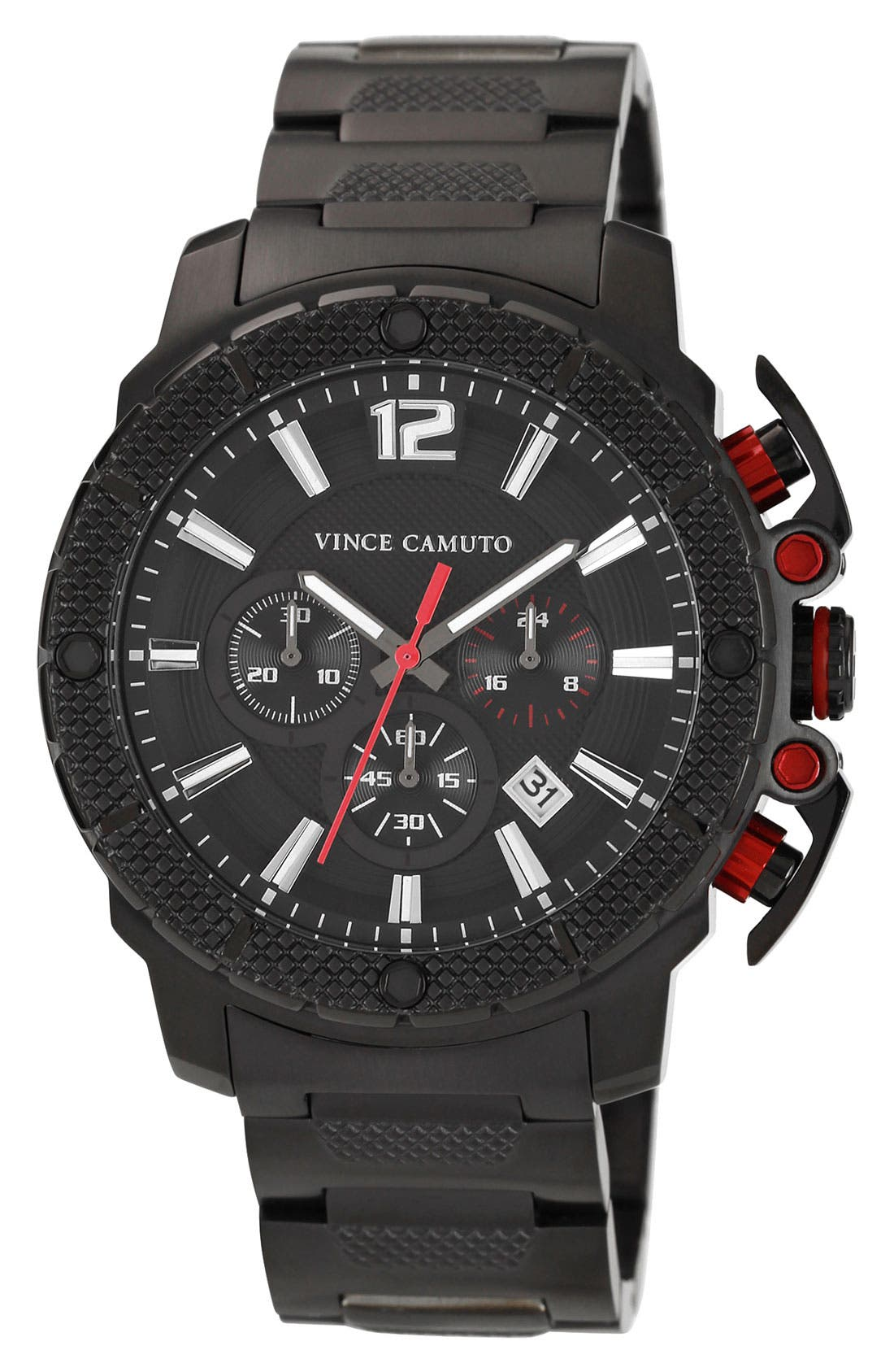 Main Image - Vince Camuto 'Striker' Chronograph Bracelet Watch, 45mm