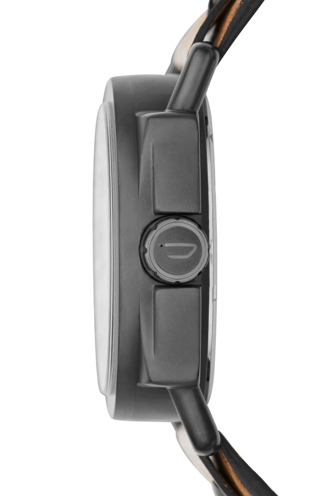 Alternate Image 2  - DIESEL® 'Descender' Leather Strap Watch, 50mm