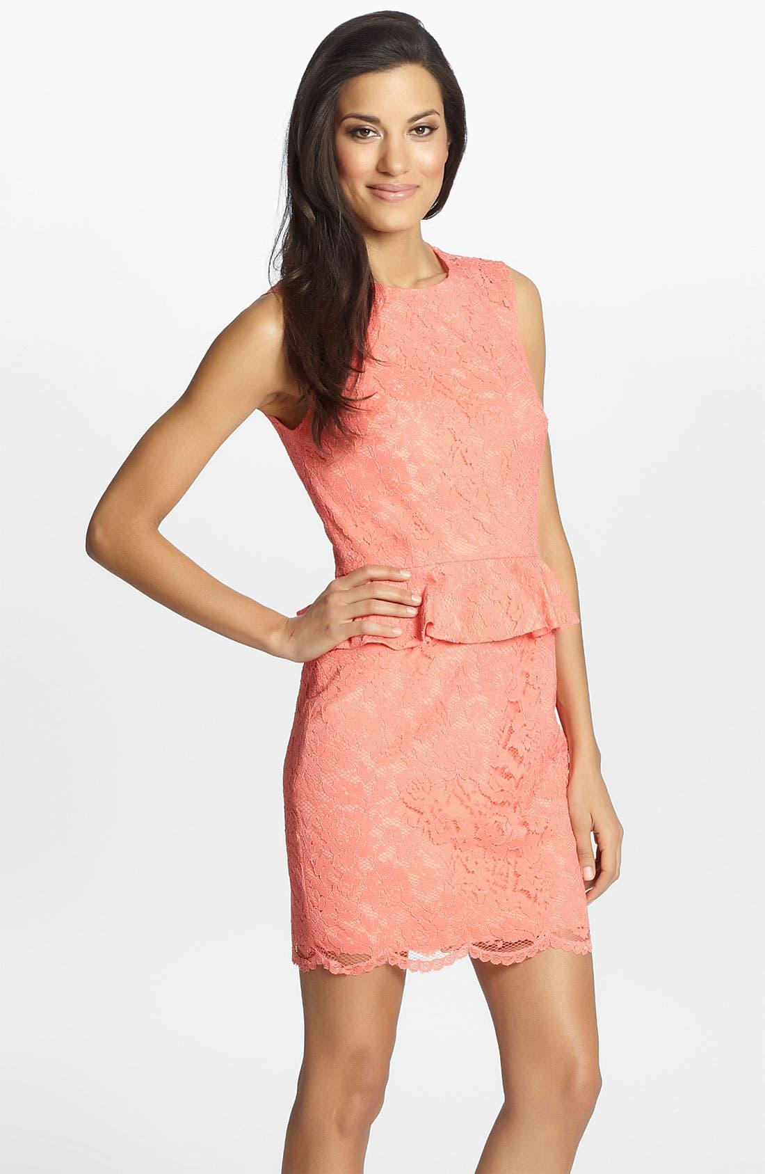 Main Image - Cynthia Steffe 'Jean' Lace Sheath Dress