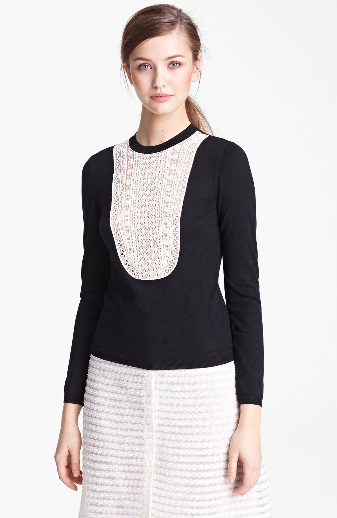 Main Image - Valentino Embroidered Bib Knit Top