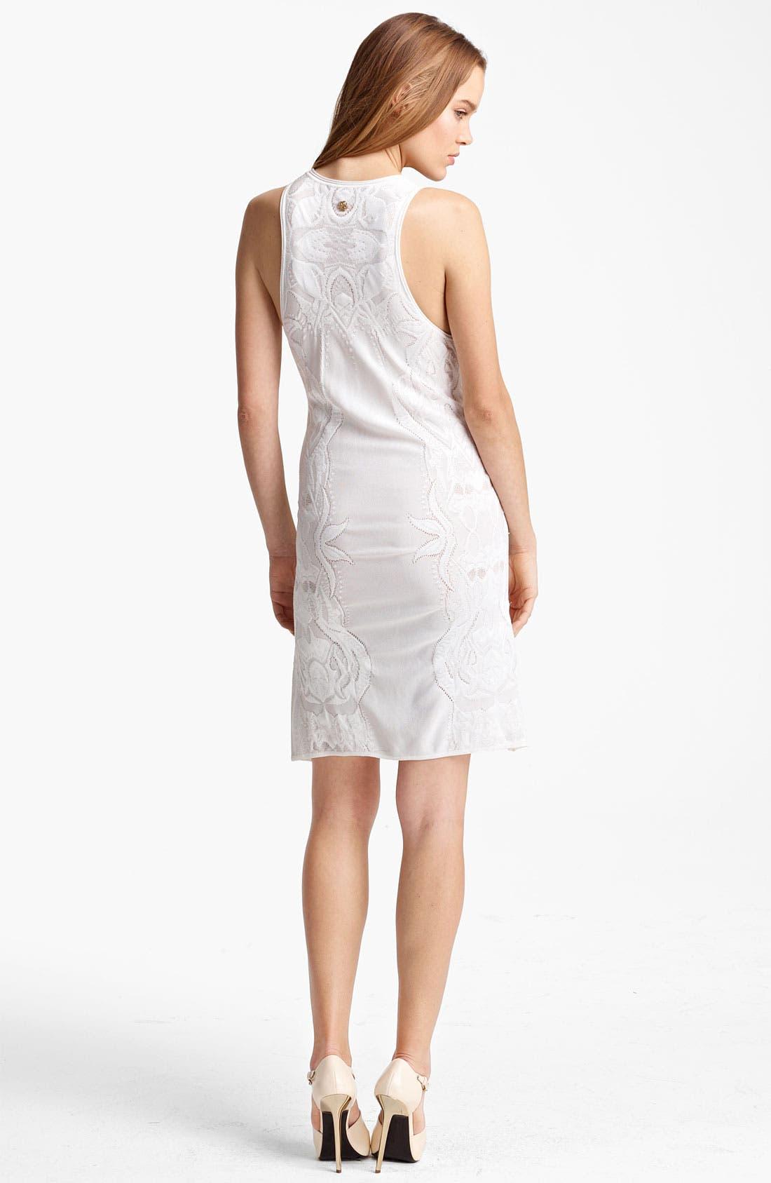 Alternate Image 2  - Roberto Cavalli Cutout & Embroidered Knit Dress