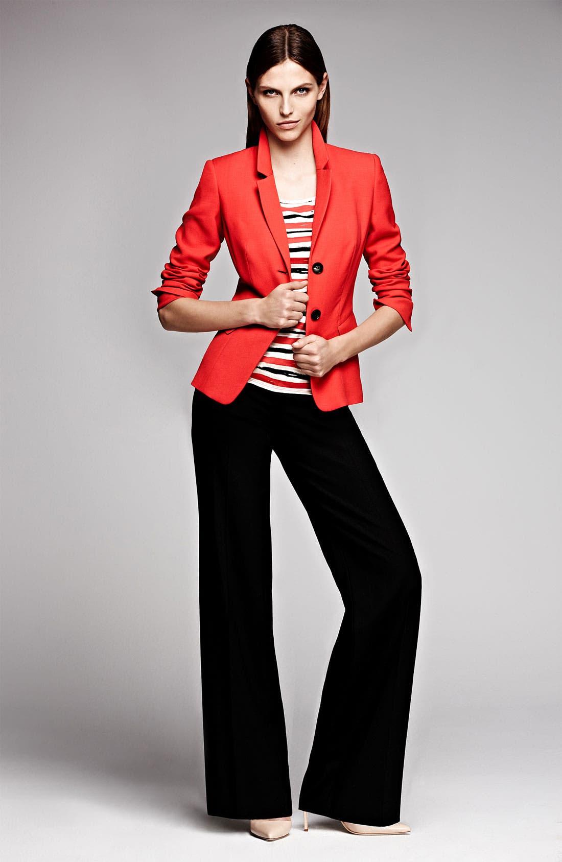 Main Image - Lafayette 148 New York Jacket, Tee & Trousers