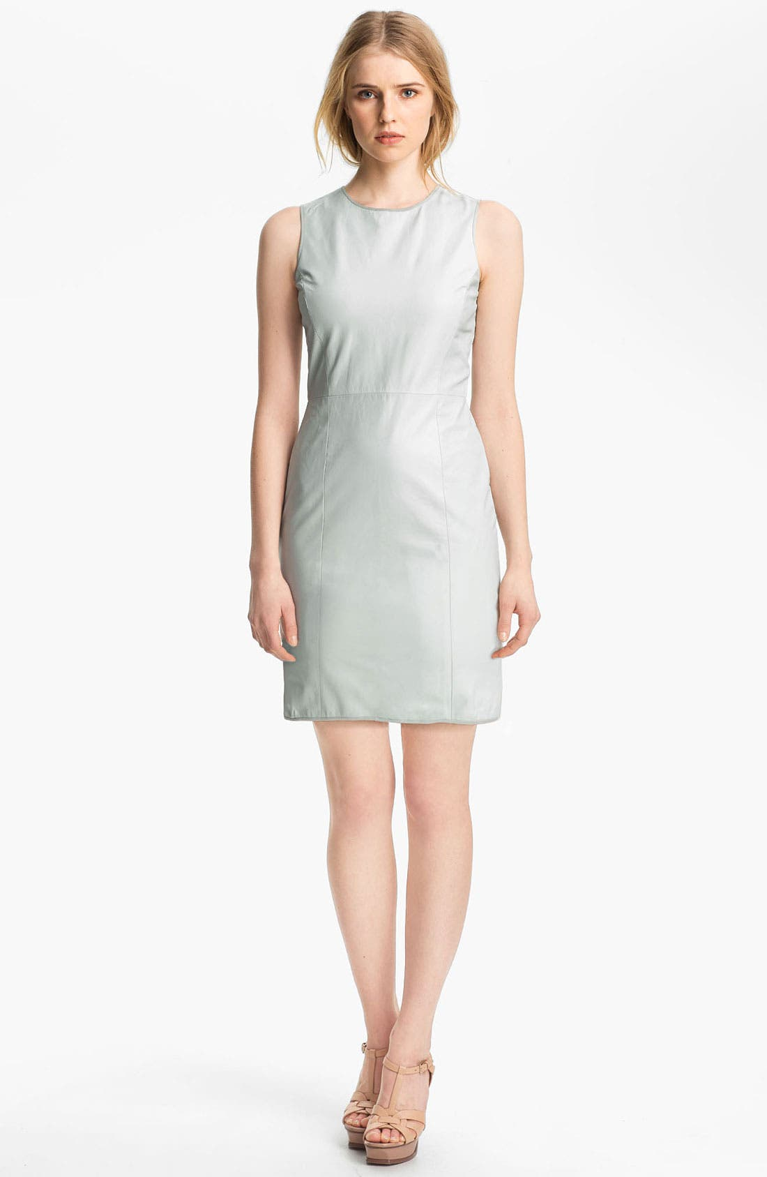 Main Image - Theyskens' Theory 'Dimo Nexcel' Leather Dress