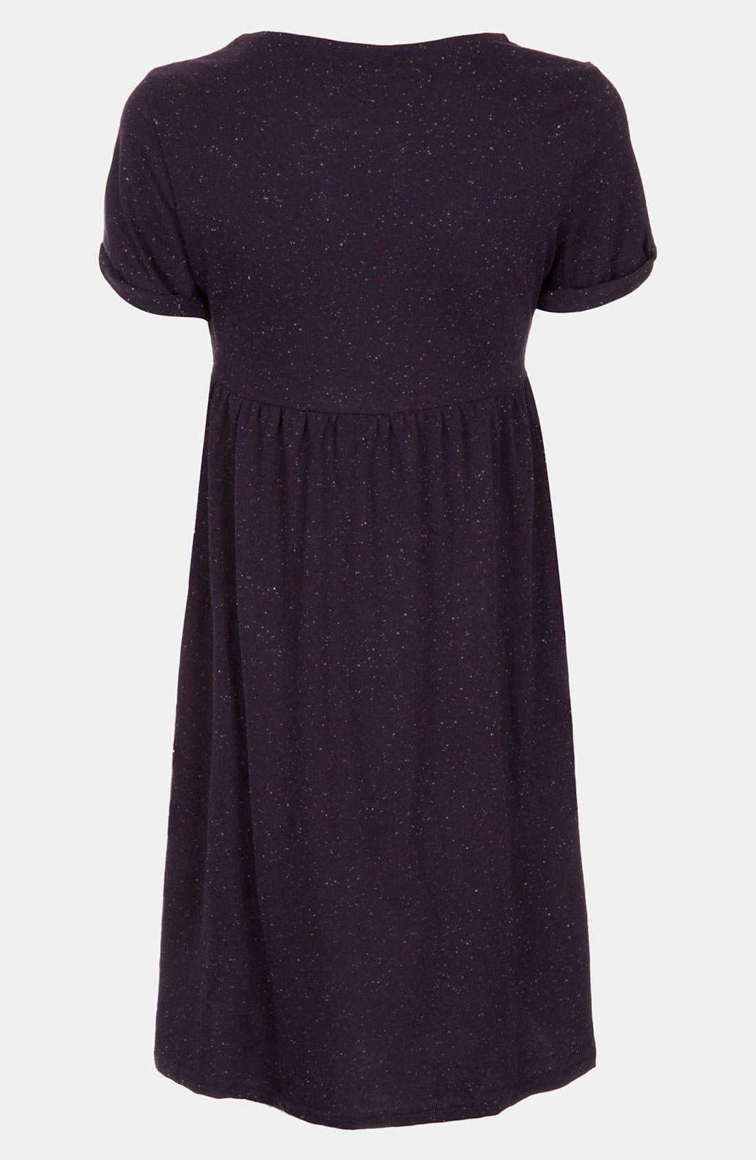 Alternate Image 2  - Topshop Roll Sleeve Knit Maternity Dress