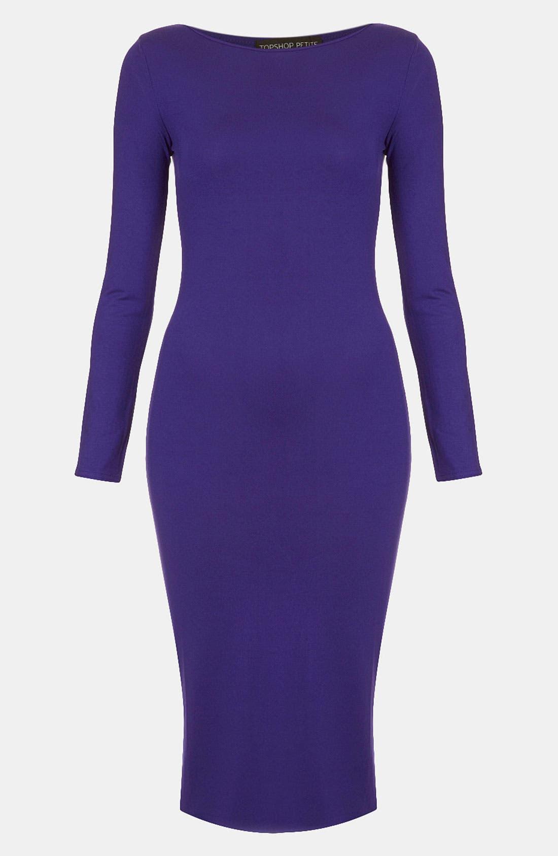 Main Image - Topshop Body-Con Midi Dress (Petite)