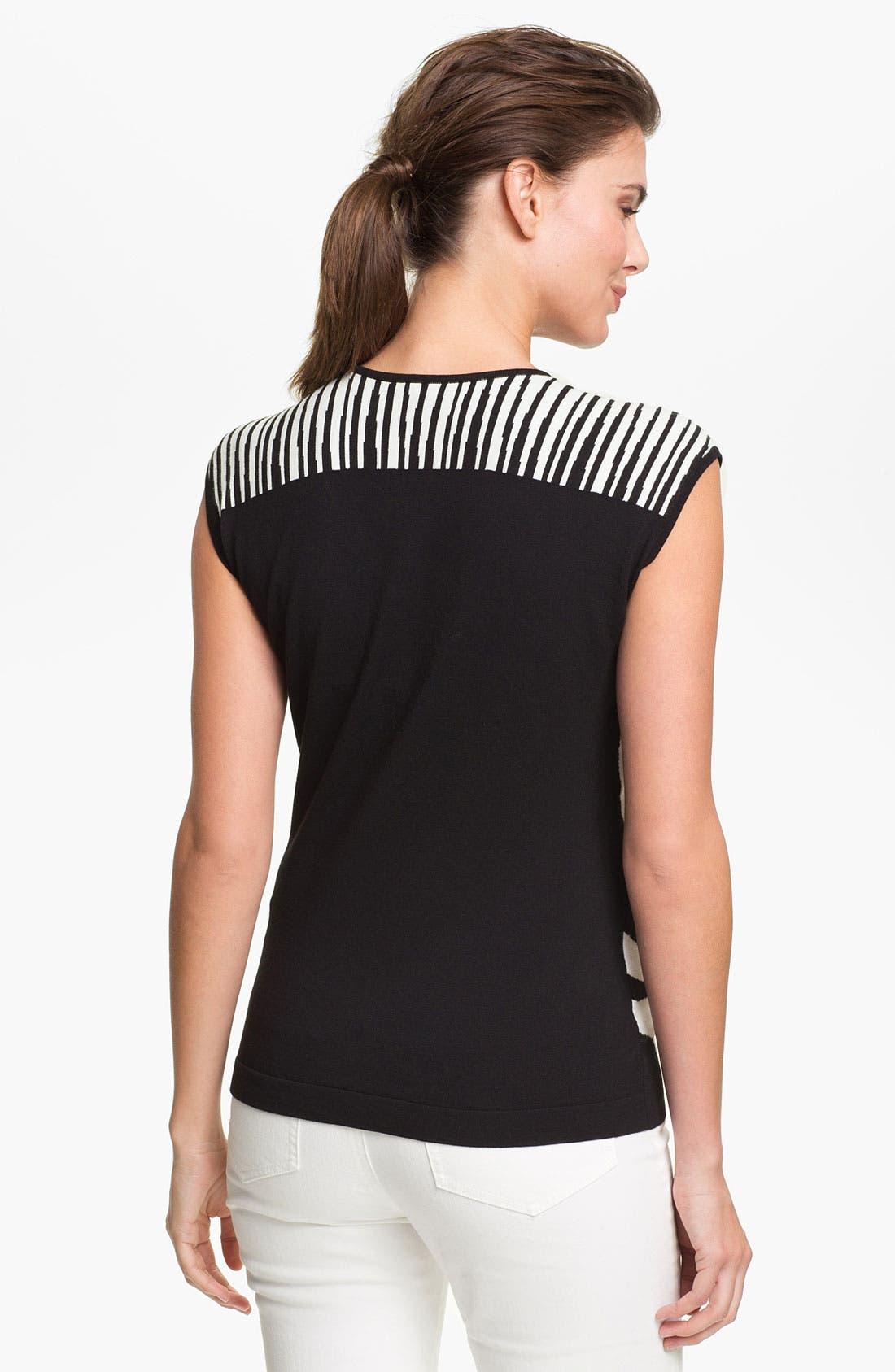 Alternate Image 2  - Lafayette 148 New York Zebra Jacquard Sweater (Online Only)