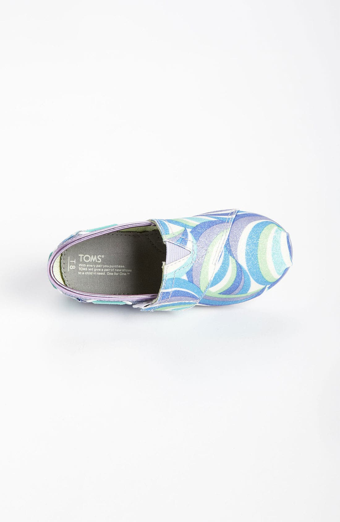 Alternate Image 3  - TOMS 'Classic Tiny - Swirl' Slip-On (Baby, Walker & Toddler)