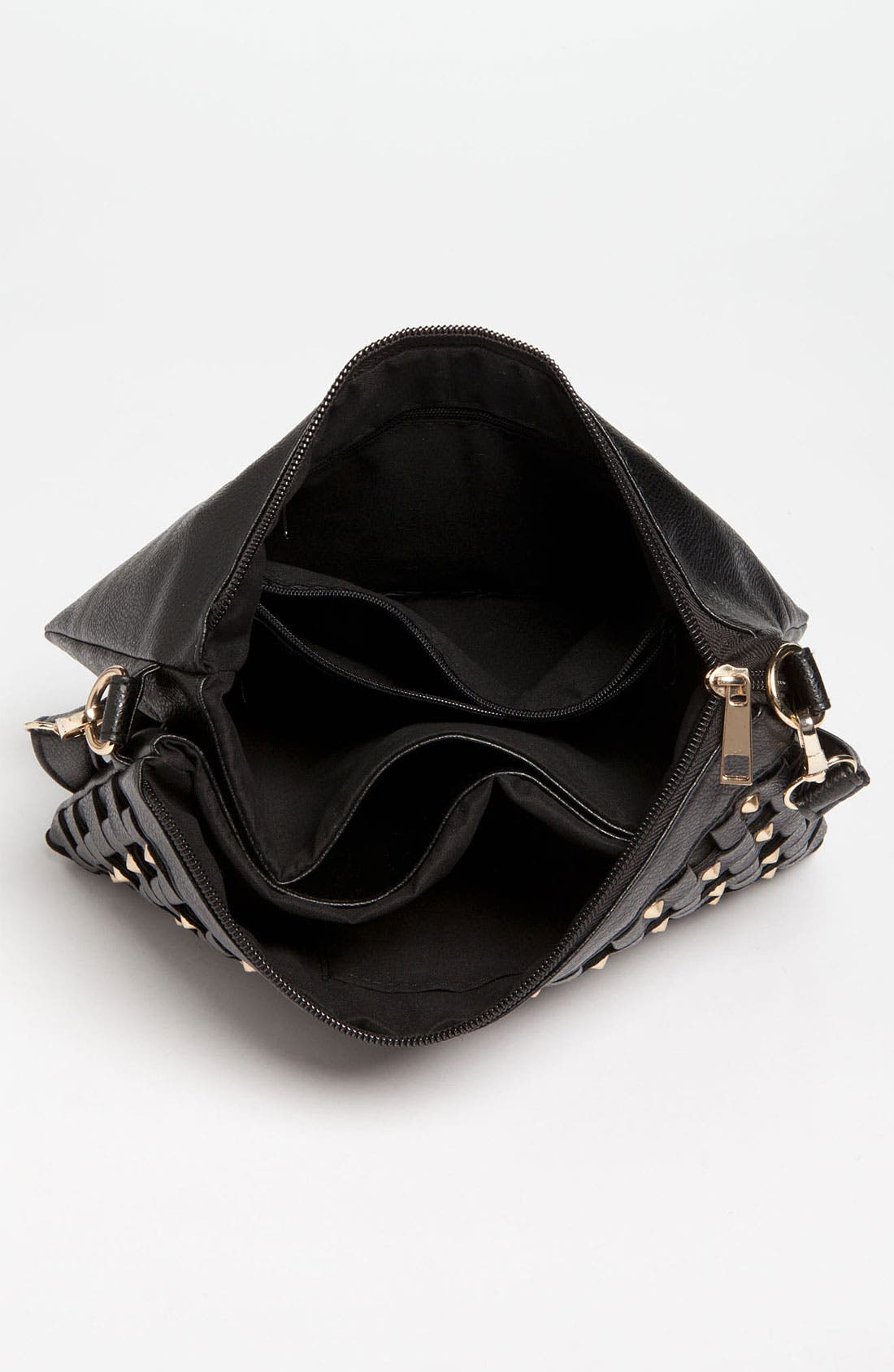 Alternate Image 3  - Top Choice Studded Faux Leather Crossbody Clutch