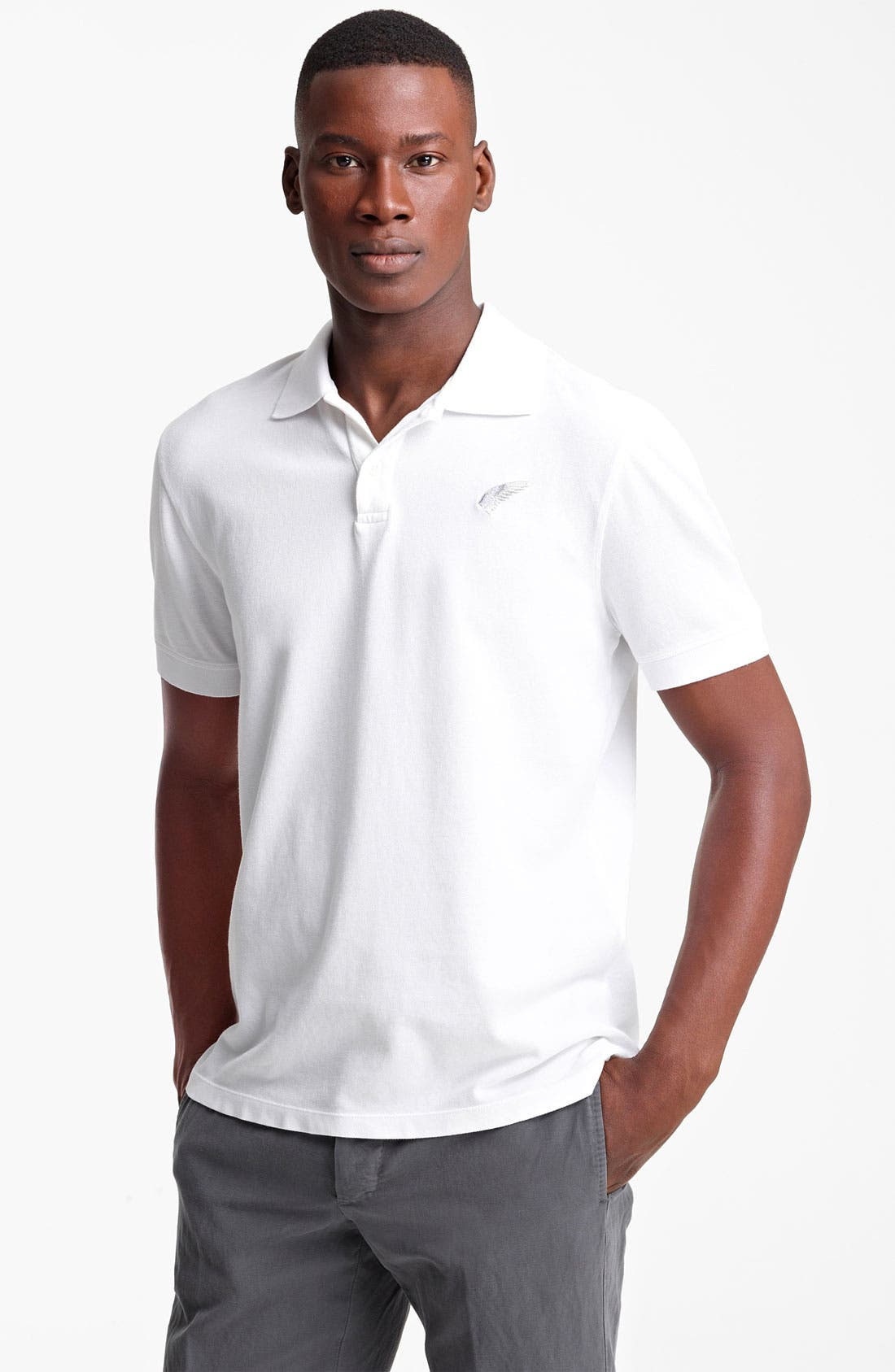 Alternate Image 1 Selected - Michael Bastian Stretch Piqué Polo