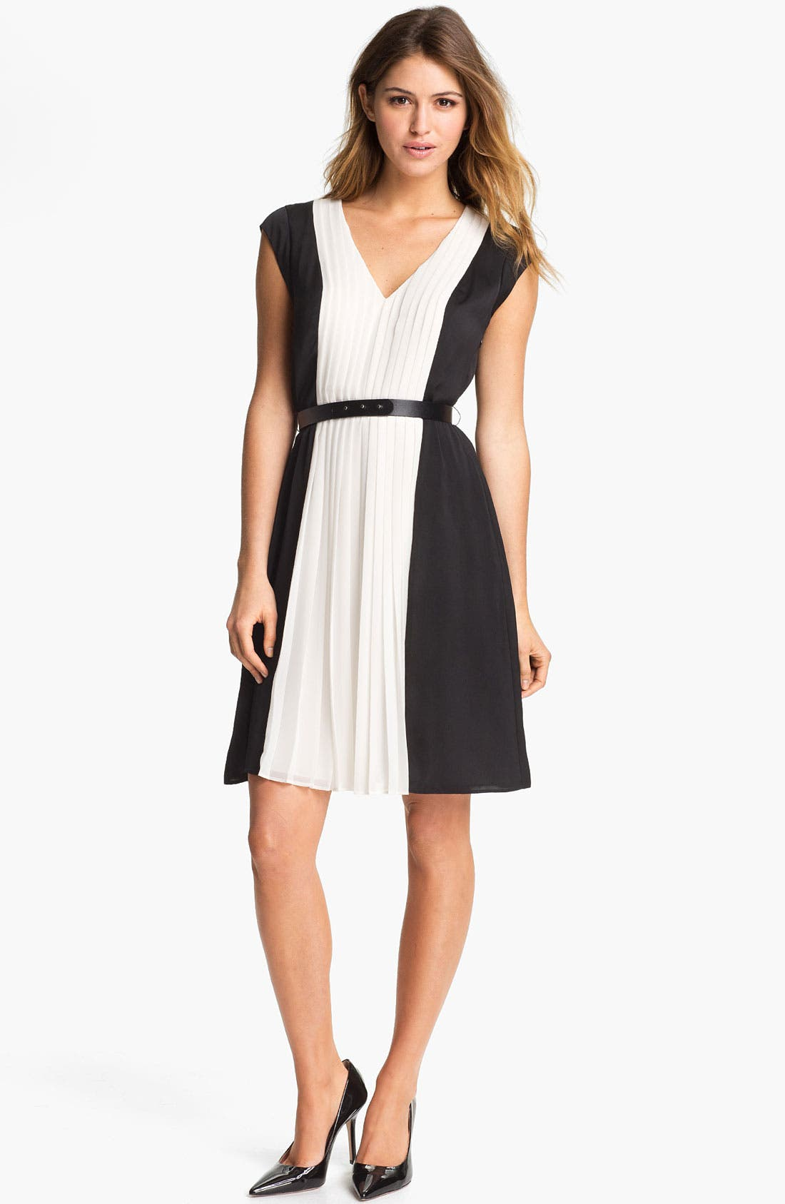 Alternate Image 1 Selected - DKNYC Pleated Colorblock Dress