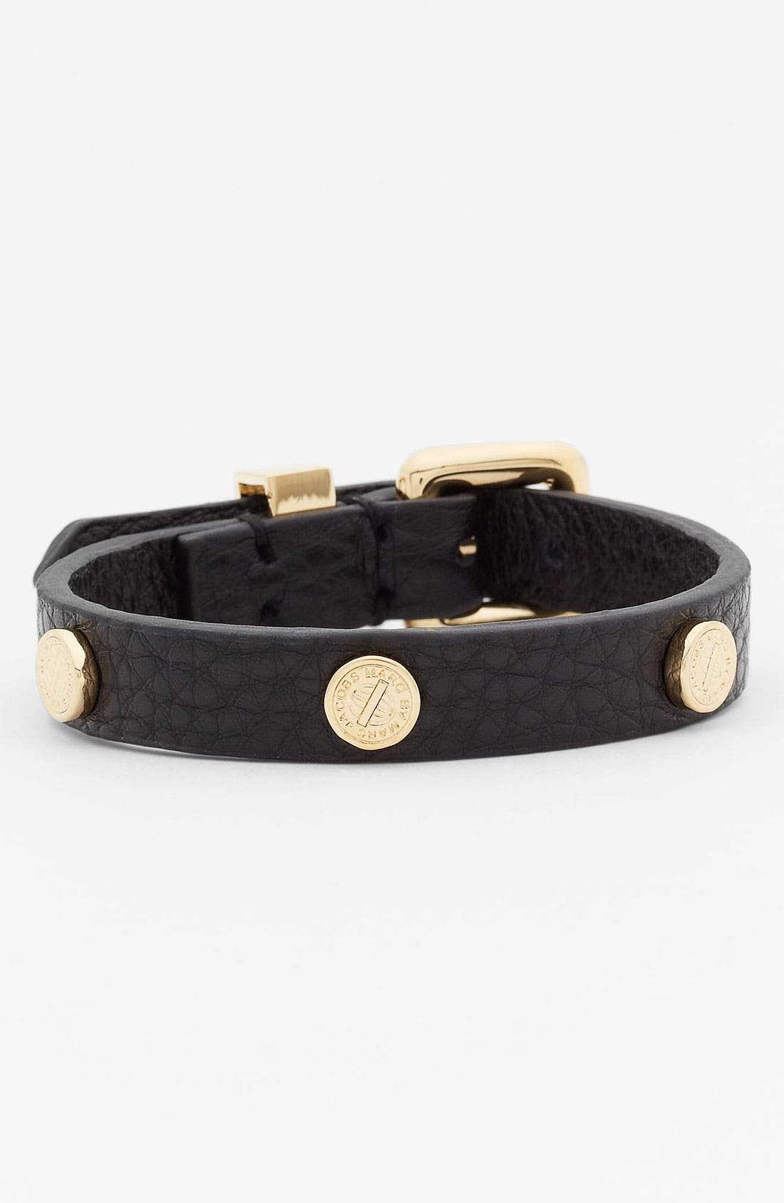 Alternate Image 1 Selected - MARC BY MARC JACOBS 'Turnlock' Leather Bracelet