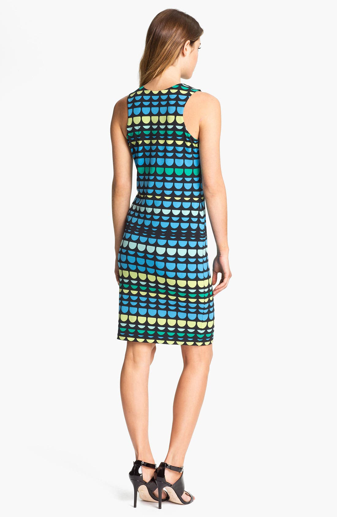 Alternate Image 2  - Vince Camuto Semi Circle Print Sleeveless Dress