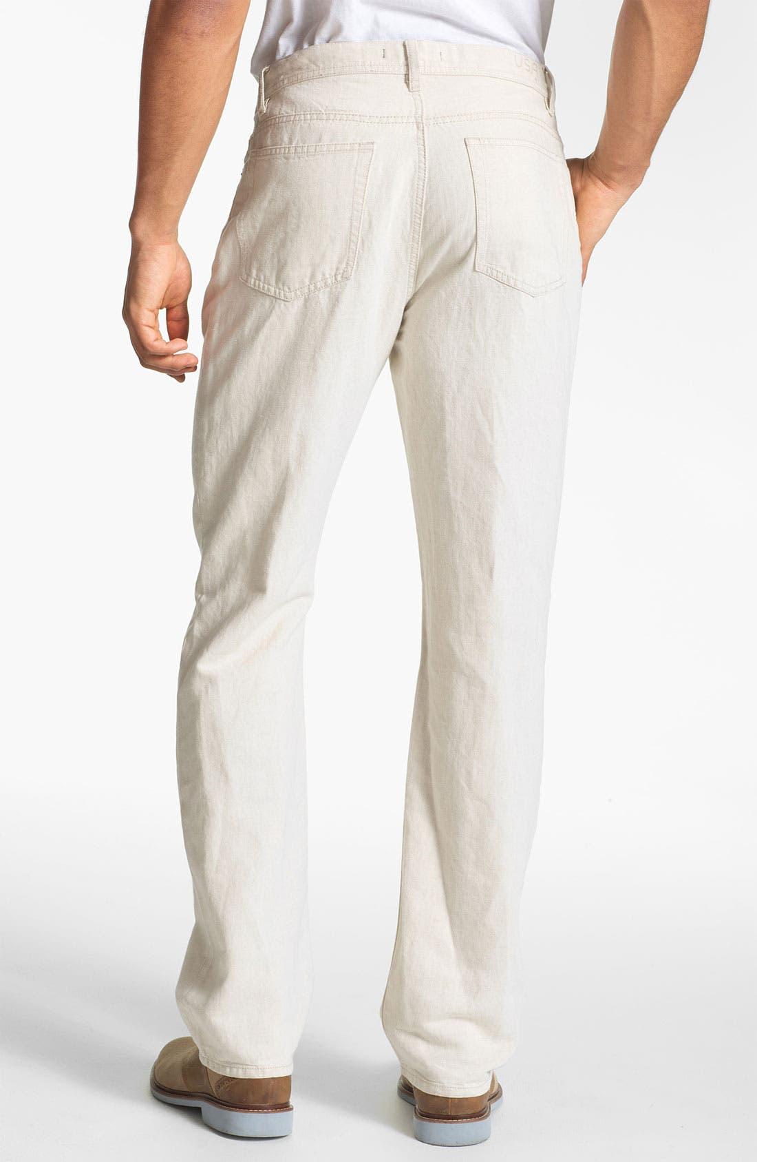 Alternate Image 2  - John Varvatos Star USA Linen Blend Pants