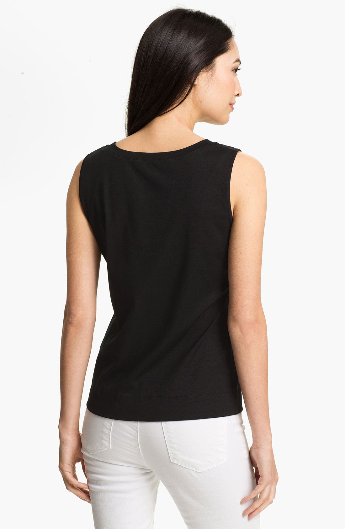 Alternate Image 2  - Lafayette 148 New York Stretch Swiss Cotton Rib Tank (Online Exclusive)