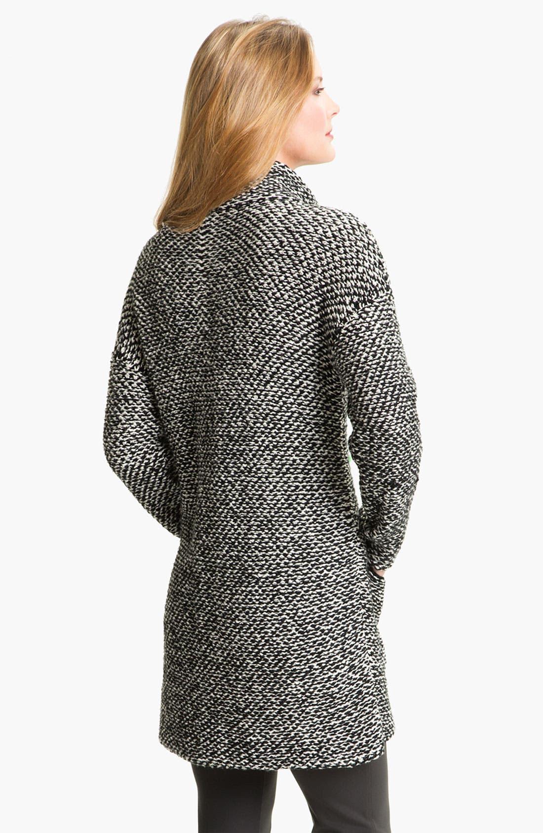 Alternate Image 2  - Eileen Fisher Funnel Collar Twist Jacket (Petite)