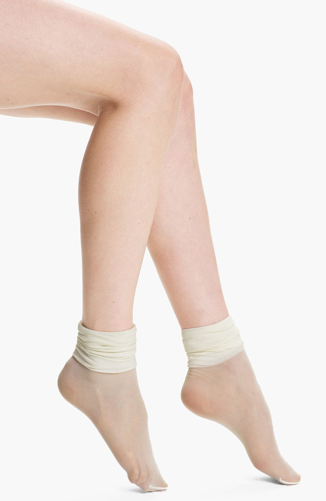 Main Image - Kensie Cuffed Sheer Socks