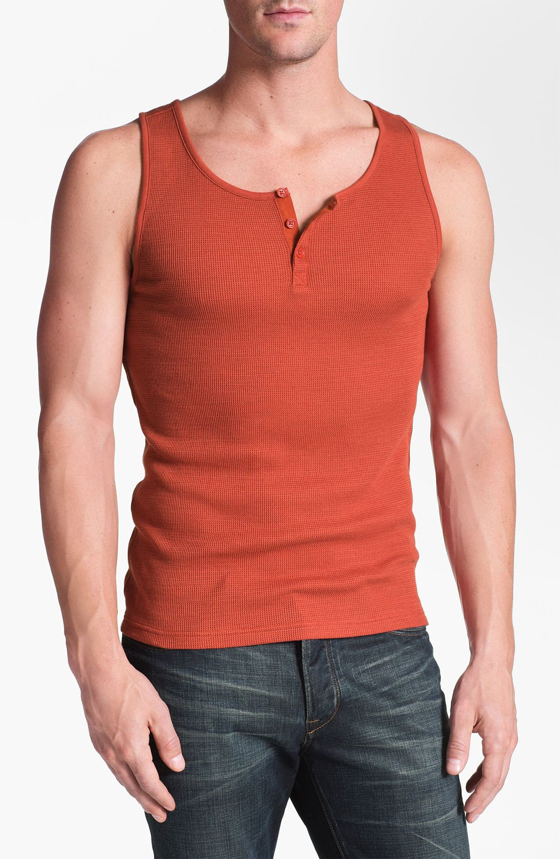 Main Image - John Varvatos Star USA Henley Tank Top