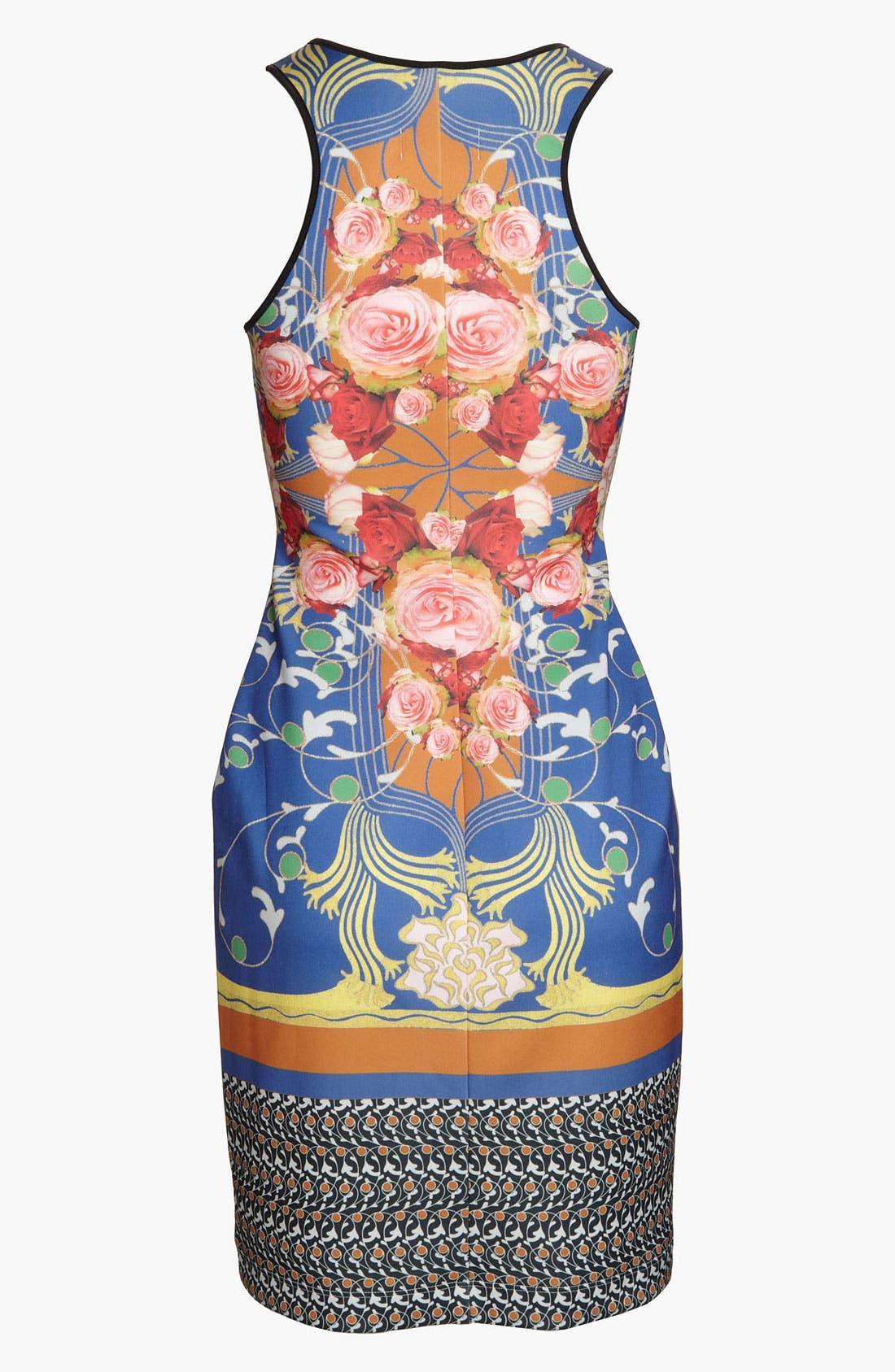 'Nouveau Scarf' Dress,                             Alternate thumbnail 3, color,                             Blue