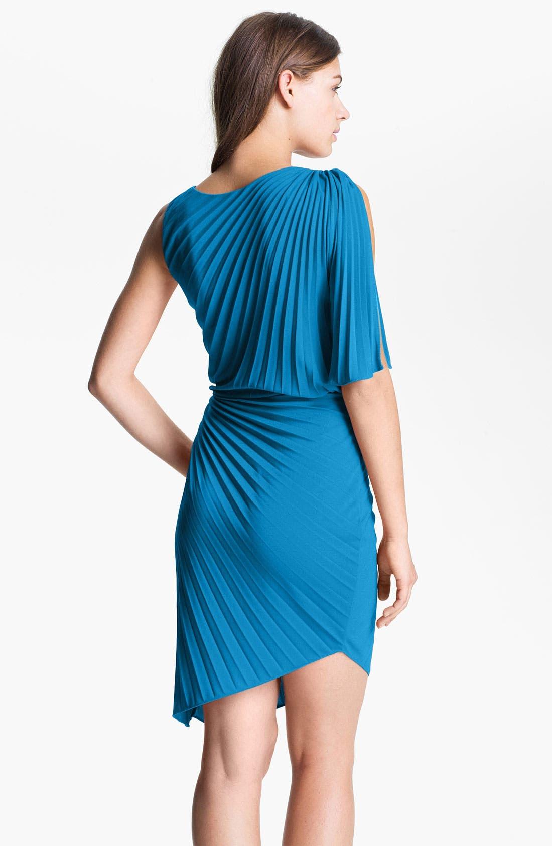 Alternate Image 2  - Halston Heritage Asymmetrical Pleat Blouson Dress