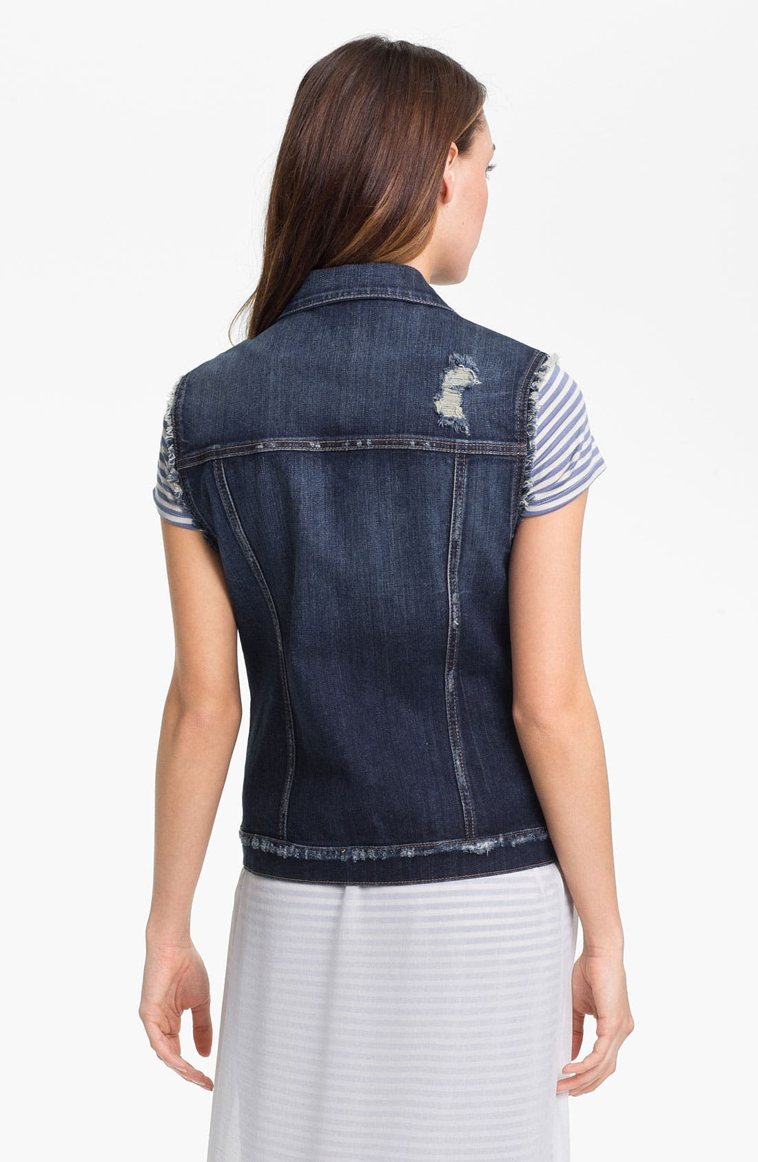 Alternate Image 2  - KUT from the Kloth Distressed Denim Vest