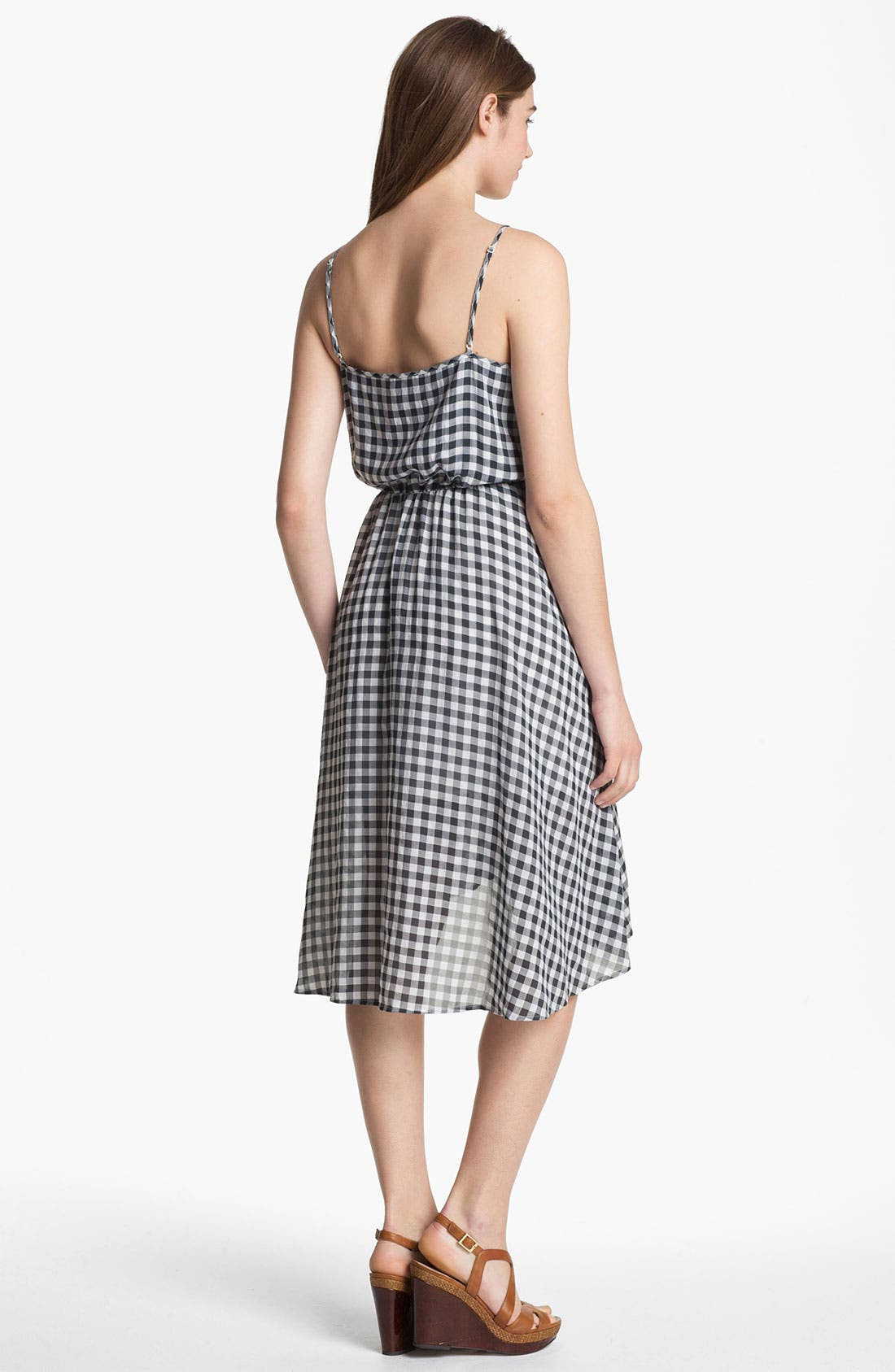 Alternate Image 2  - Two by Vince Camuto Plaid High/Low Dress