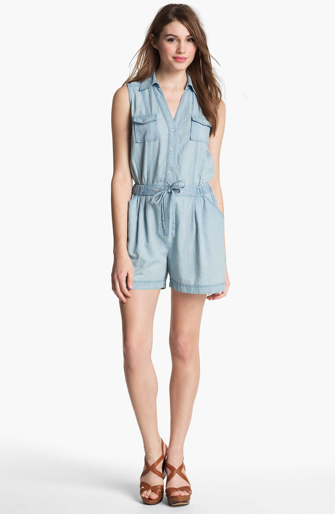 Main Image - Two by Vince Camuto Chambray Romper