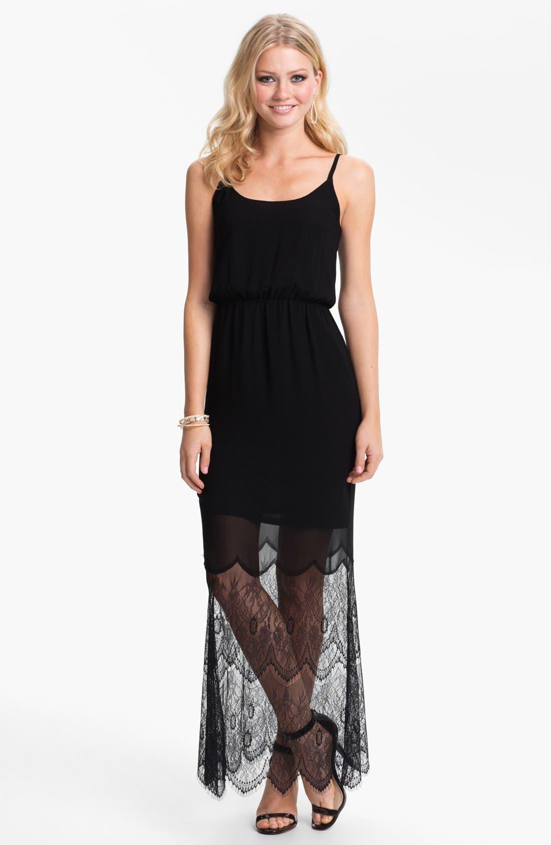 Alternate Image 1 Selected - BLAQUE LABEL Mixed Media Maxi Dress