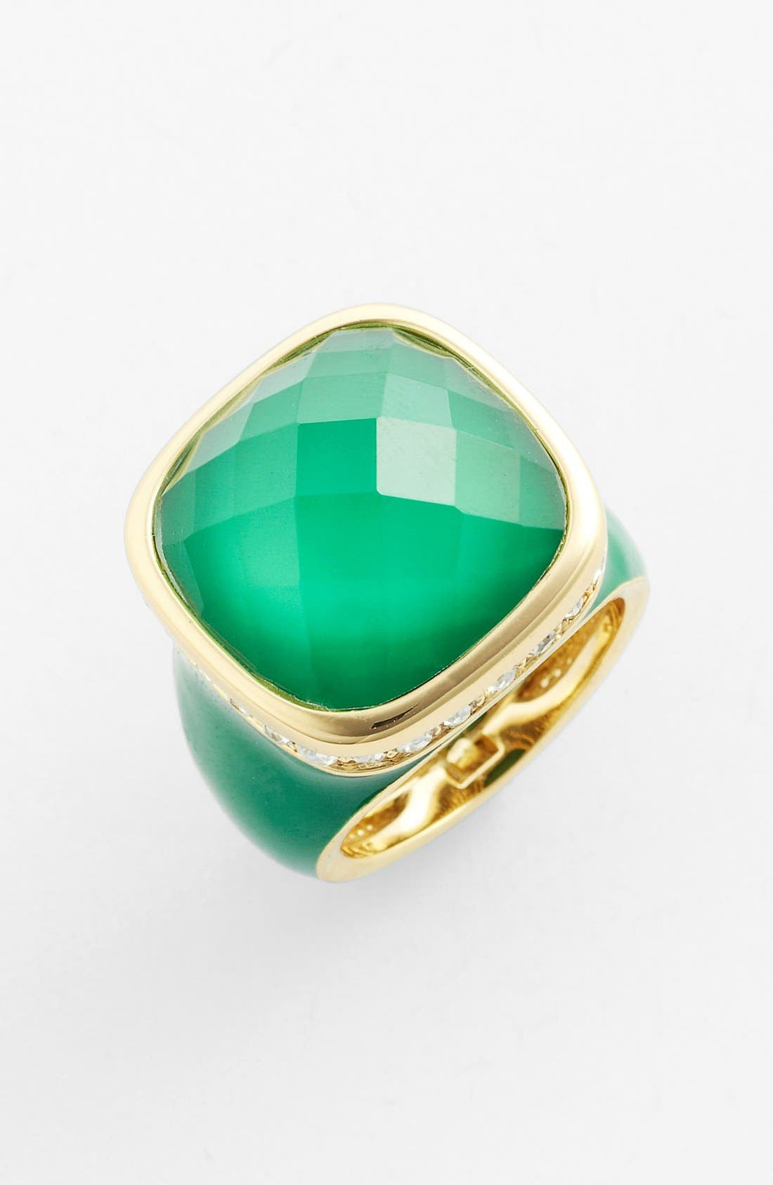 Alternate Image 1 Selected - Ariella Collection Square Stone Ring (Nordstrom Exclusive)
